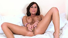 River Gets Her Own River Flowing As She Toys Her Hairless Slit