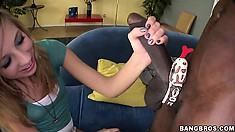 Chastity Lynn is a innocent barely legal babe, she will learn on how to suck big black cock
