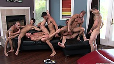 Lots of hot bodies laying around giving great head and pounding ass