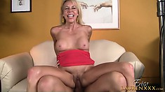 The wild mature rides that shaft with excitement and finds the pleasure she desires