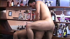 Hot Latina with perky tits Elisa has her man fucking her tight holes from behind