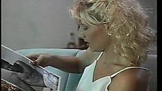 Sensual blonde gets fucked hard and finishes her man off with a blowjob