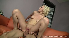 Lily La Beau loves getting her mouth filled and cunt stuffed full of dick