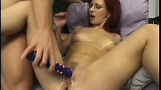 Big breasted redhead milf has a wet peach longing for a hard pounding
