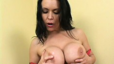 Angelica Sin is a stacked cougar on the prowl for a young stud's cock
