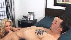 Big breasted blonde milf Rachel Love seduces and fucks her stepson