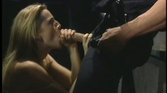 Sexy Holly Hollywood jumps on the big hard dick of a horny cop
