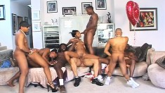 A hot orgy where these brown sluts are sucking and fucking anyone they can