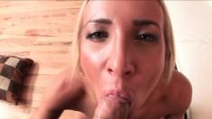 Gorgeous blonde slut Addison Cain gets down for some POV fun
