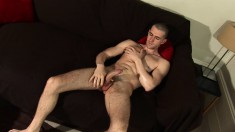 Woody Fox puts his amazing body on display and pleases his hard pole