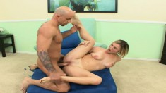 Jasmine Jolie rides a hard pole with intensity and moans with delight