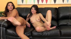 Morgan and Shyla set the camera on fire as they toy their pussies raw