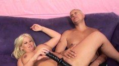 Julie Cash Feeds Her Lust For Big Sex Toys And Gives A Sensual Blowjob