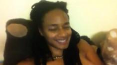 Hot And Sexy Ebony Black Babe Stripping 1
