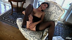 As Soon As Frisky Babe Spreads Her Legs Her Hands Will Find The Way To Pussy