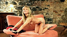 Bella Baby, a cute young teen in a hot casting showes her sweet body to the camera