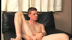 The horny new guy gets naked and has hot gay sex on the desk