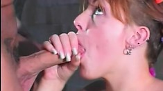 Barely legal cutie gets her tight pussy pummeled by a big cock