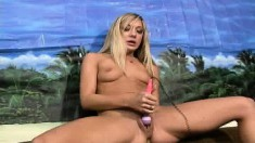 Hot babes McKenzee Miles and Amy Brooke love to use vibrators