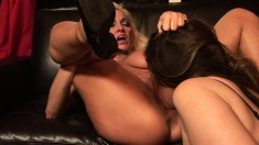 Horny pussy-lover Marley Mason has some lesbian fun with her girl