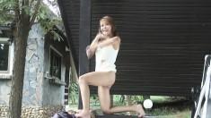 Striking Kate Kumachum Sensually Displays Her Superb Body On The Porch