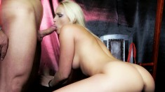 Blonde sex goddess knows how to tease and make you rock-hard