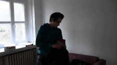 Sexy brunette boy with nice oral skills is ready for some anal action