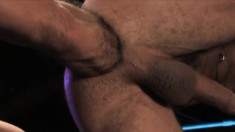 Handsome studs with wonderful bodies indulging in hard fisting action