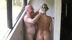 Wife Takes Fucks And Shower In Bedroom With Hubby