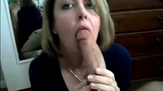 Mature Mom Sucks Monster Cock