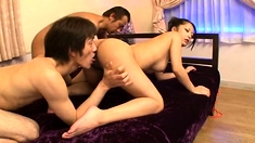 Hairy Japanese Asian Women Has Sex