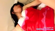 japanese wife blowjob and Missionary position