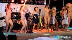 Women Dancing Naked on Stage