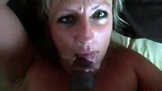 Mature White Wife Loves Her Black Lover's Cum