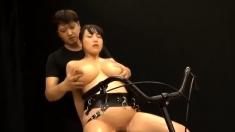 Bdsm slave has got big boobs