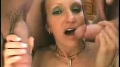 Threesome For Blonde Sophia And A Double Penetration