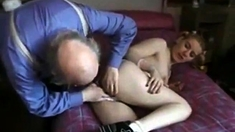 Old Man Seduce Teen Slut