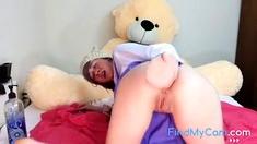 Girl Play With A Big Dildo
